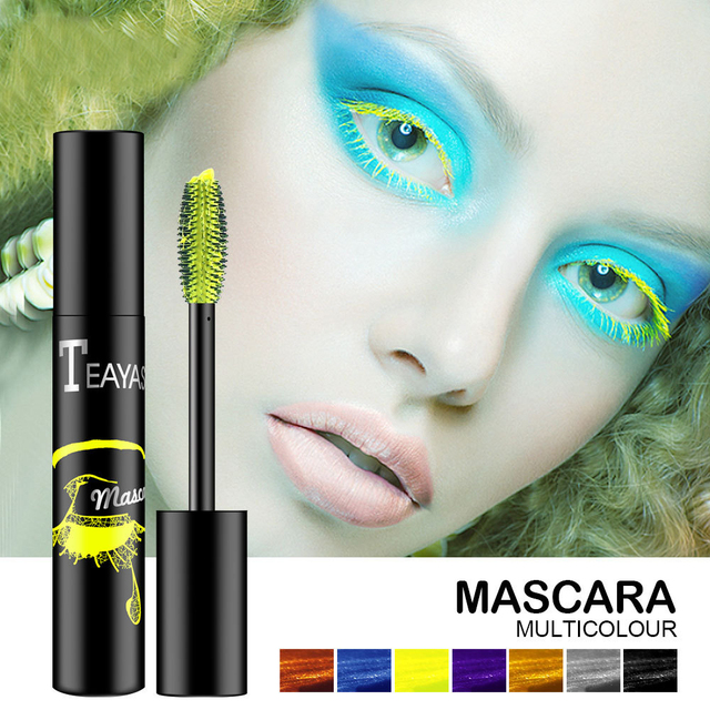 7 Colors 4D Silk Fiber Eyelash Liquid Mascara Lash Extension Waterproof Thick Lengthening Mascara  Women's Make Up Cosmetics
