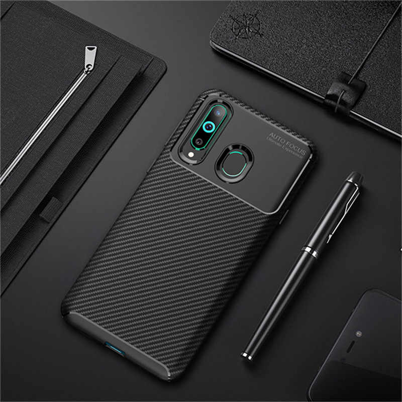 For Samsung For Galaxy  A10 A30 A40 A50 A70 case coque Carbon fiber ultra-thin TPU back cover on for Galaxy M10 M20 M30 case