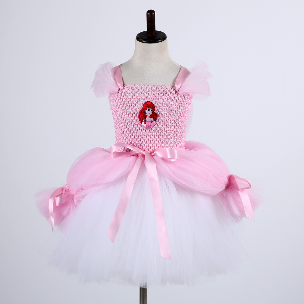 Girls Sleeping Beauty Princess Cosplay Party Dresses Children Aurora Costume Clothing Kids Tutu Dress for Christmas Carnival 2016 girl 1 witch dress 1 hat cap princess party dresses tutu baby kids children clothing carnival halloween cosplay costume