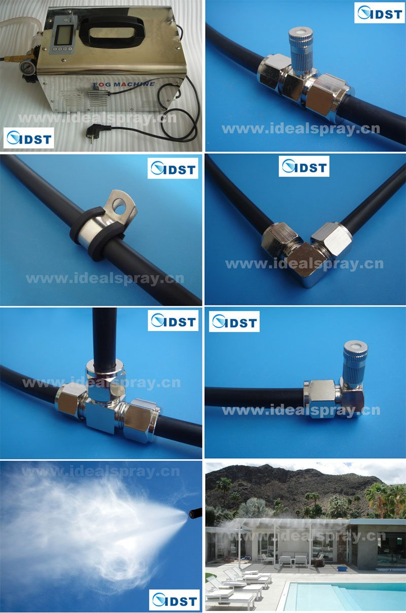 80 Meters Pipe 1L/Min High Pressure Fog Misting System For Cooling And  Humidification(
