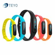 Teyo Новый Смарт-Группы U01 Шагомер Bluetooth Водонепроницаемый Браслет Сна Монитор Сердечного ритма Pulsera Inteligente для Android IOS