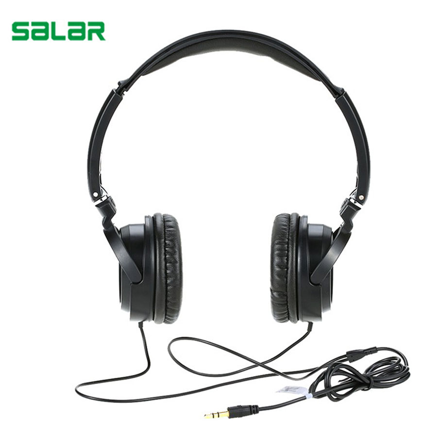 Salar EM520 HiFi Gaming Sport Stereo Headset Super Bass Headphones Portable 3.5mm Foldable Adjustable Wired Headphone For PC