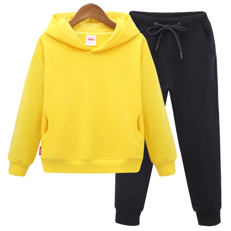 Fashion Children Tracksuits Hooded Jacket Pants Cotton Children Popular Boys Girls Sport Suits New Casual Children Clothing Sets wholesale new fashion autumn casual sport suits tracksuits for kids gold chain printing hip hop outwear boys clothing sets