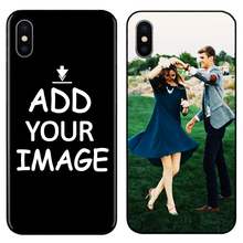 Custom Personalized Make your images pattern Photo Phone Black Sotf TPU Cover Case for iPhone 6 6S 7 8 Plus 5s 5 X XR XS MAX