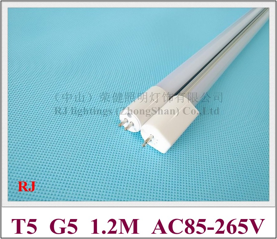 AC85-265V input T5 LED tube light lamp fluorescent LED light G5 1.2M 1200mm 4FT SMD2835 120led 20W 2400lm T5 high bright 2pcs set t5 led light tube ac85 265v 2 5w wall lamps 1ft led t5 tube fluorescent lamp lights connect cord power switch cable