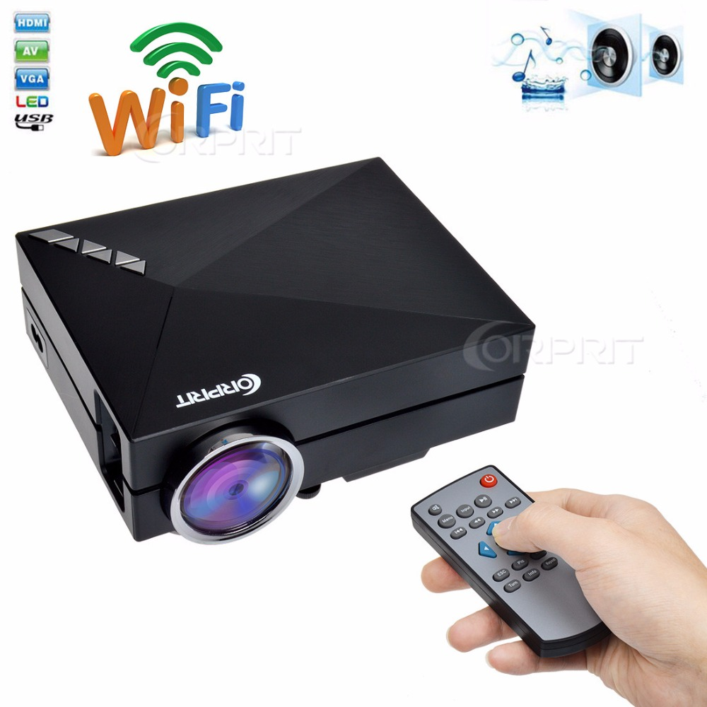 Smart miracast airplay wifi home theater hdmi usb lcd for Small lcd projector reviews