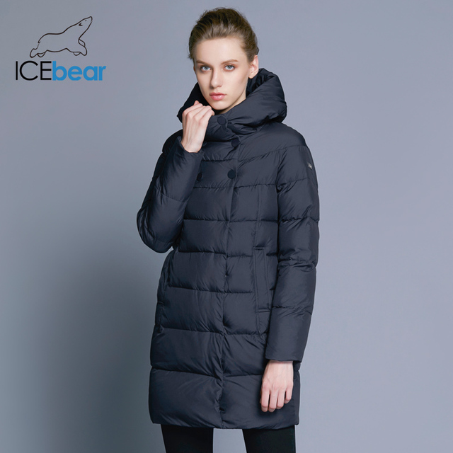 ICEbear 2018 Hot Sale Winter Womens Coats Down Thickening Jacket And Coat For Women High Quality Parka Five Colors 16G6128D 1