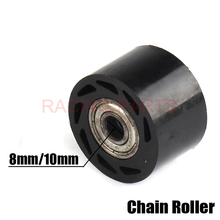 Free Shipping 10mm 8mm Chain Roller Tensioner Motorcycle Motorbike Pulley wheel guide 125 XR CRF 50 Pit Pro Dirt Bike