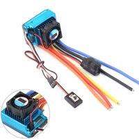 Nowy 120A Sensored bezszczotkowy esc kontroler prędkości T plug dla 1/8 1/10 1/12 RC Car Crawler Wholesale w Części i akcesoria od Zabawki i hobby na