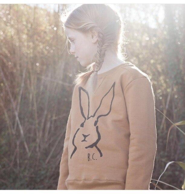 Творческий моды Мультфильм ребенка толстовки высокое качество хлопка с длинным рукавом футболка мальчики и девочки осень одежда