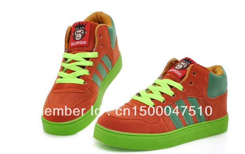 ce47830e6e3f 2013 big mouth monkey couple high top shoes Campus Wind class Korean lace  casual hip hop shoes on Aliexpress.com | Alibaba Group