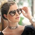 FEIDU Fashion Women Imitation Wood Sunglasses Female Brand Designer Oversized Retro glasses Driving Female Eyewear oculos de sol