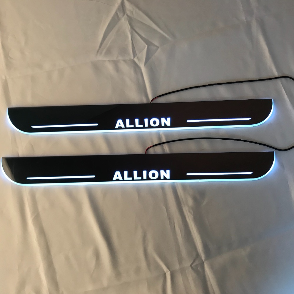 RQXR led moving door scuff for Toyota allion dynamic door sill plate flat lining overlay Flow/still light, 2pcs-in Car Light Assembly from Automobiles & Motorcycles    1