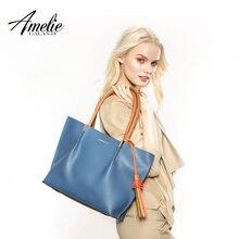 AMELIE GALANTI для женщин сумка композитный 2 шт. Сумочка кисточкой шить мягкие панелями из искусственной кожи сумки