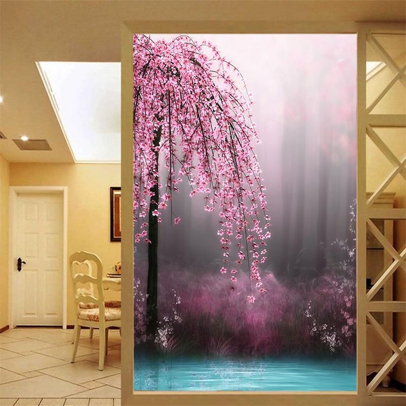 Large Mural Wallpaper Flower Porch Screen Sofa TV Background Wallpaper Personalized Custom Dream Peach Wedding Household Decor