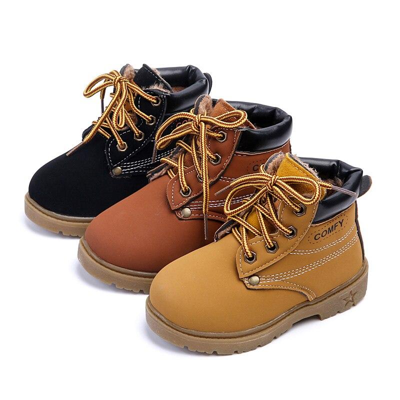 Kids Autumn Winter Warm Shoes Children Girls Boys Casual Snow Boots Shoes
