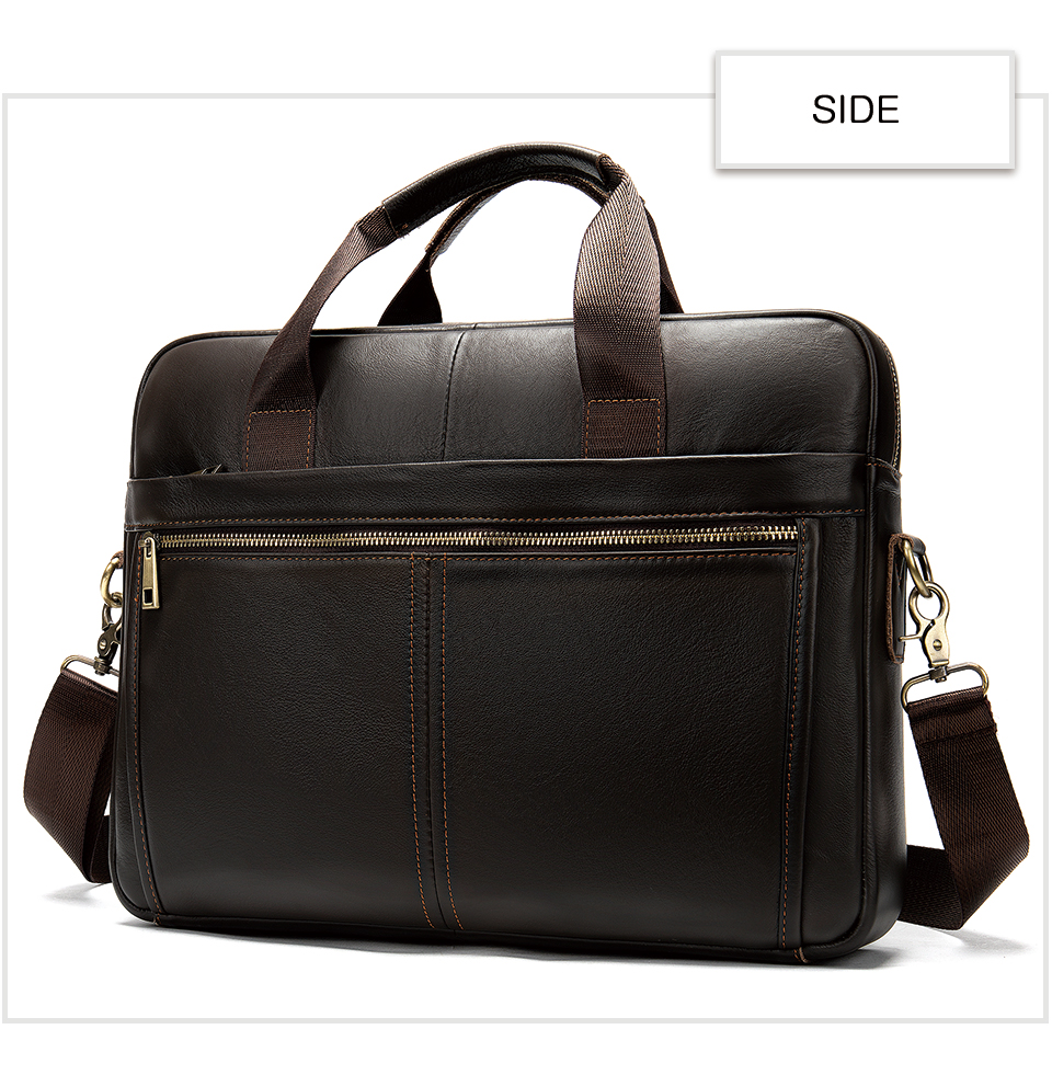 HTB1ueG5UwHqK1RjSZFPq6AwapXaJ WESTAL briefcase messenger bag men's genuine leather 14'' laptop bag men's briefcases office business tote for document 8572