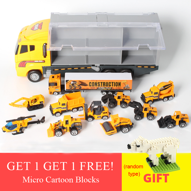 New Arrival 12 pcs lot Truck Model Truck Toy Diecast Cars Diecast Model Vehicle Toy Boys