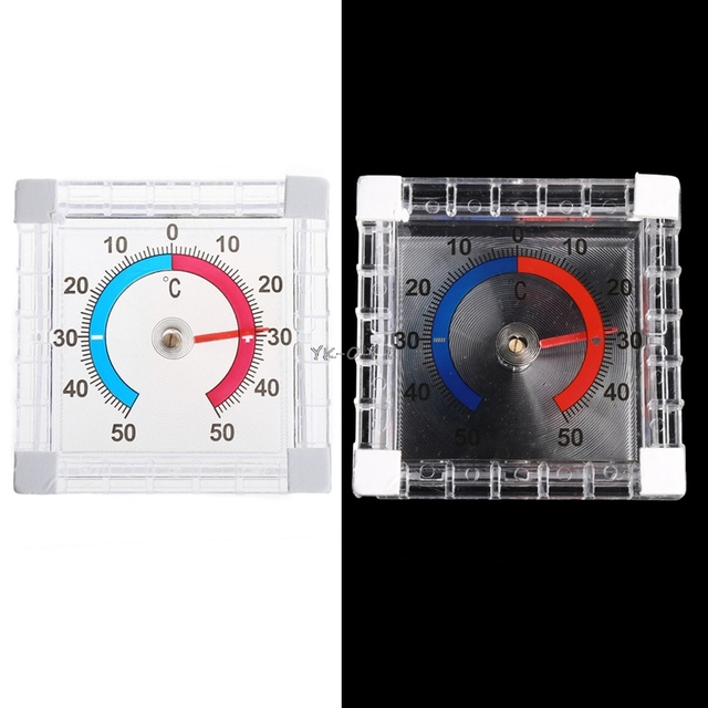 Temperature Thermometer Window Indoor Outdoor Wall Greenhouse Garden Home