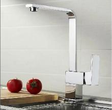 Мода Высокого качества chrome однорычажный латунь горячей и холодной 360 градусов вращающийся кухонный кран