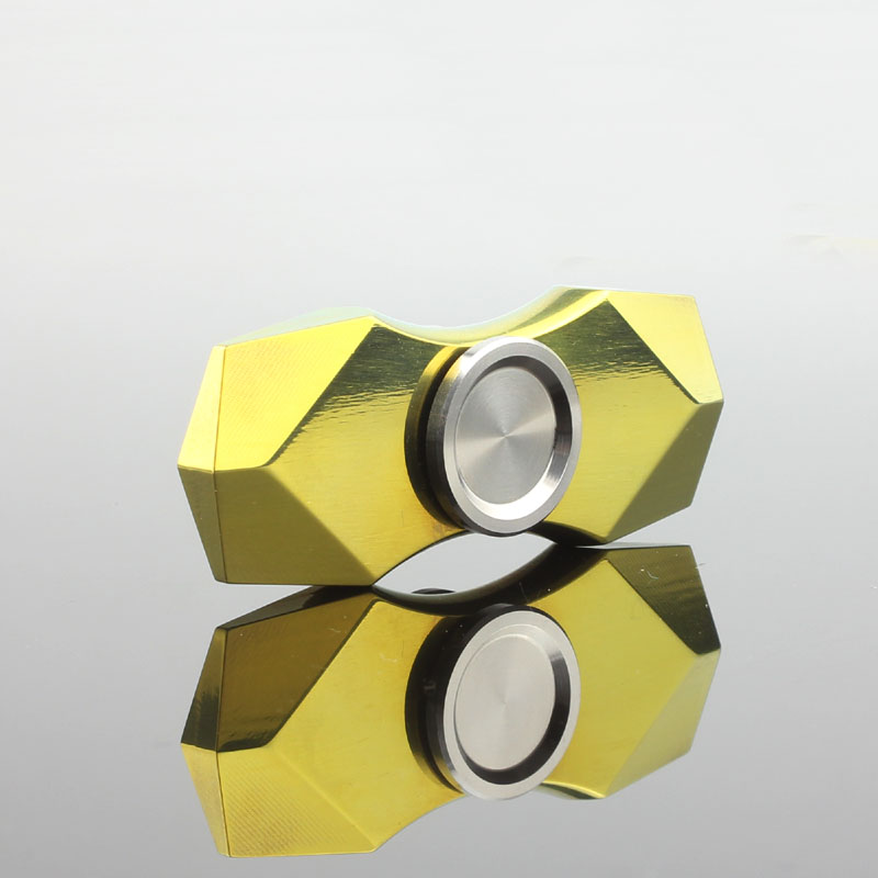 Colorful Diamond Fidget Spinner Hand Finger Widget Antistress Top Rotation Spinning Titanium Green EDC Metal Gold Toy For Adult