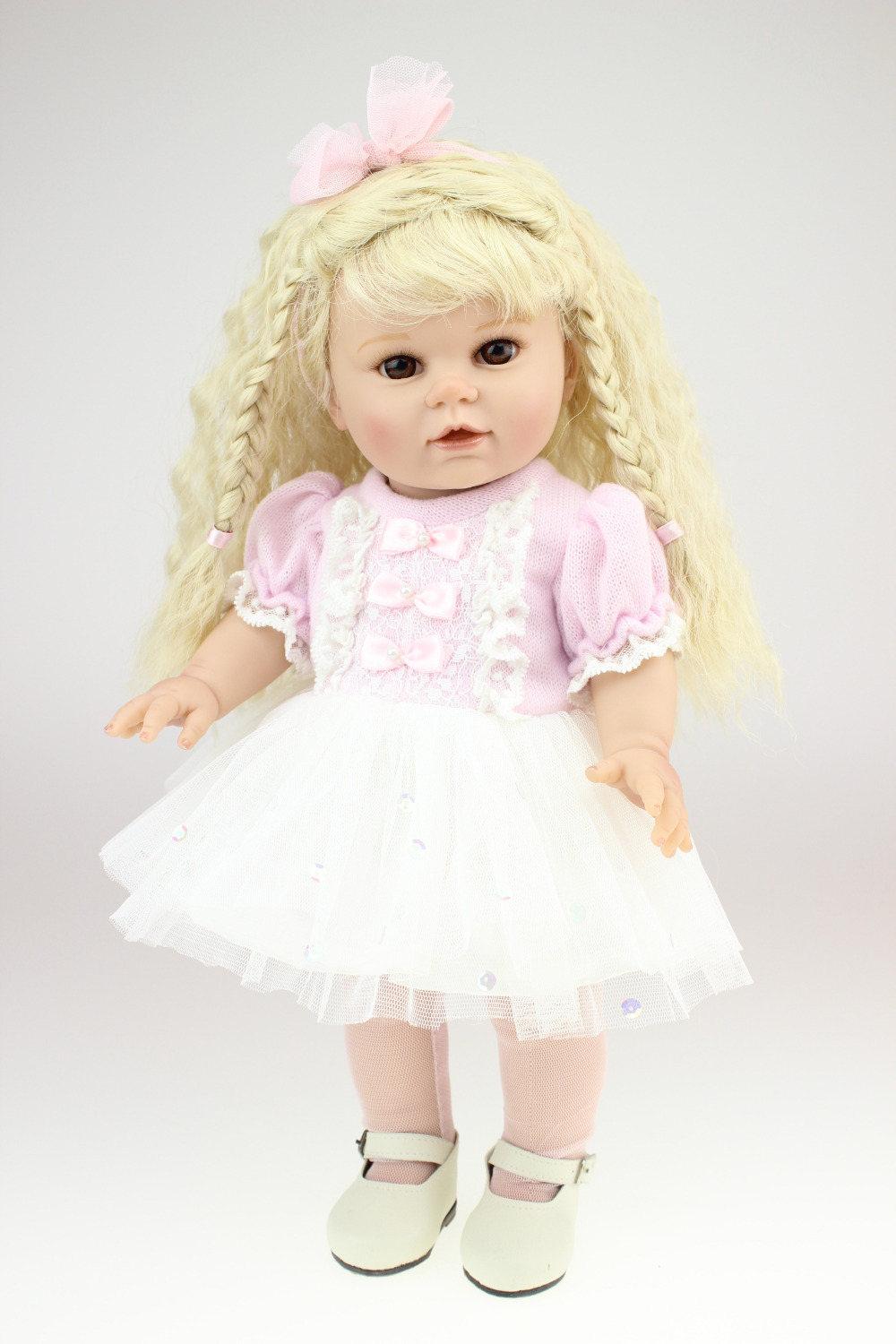 40cm Vinyl Baby Home Doll American Girls Doll Silicone Newborn Baby Doll The Most Popular Girls