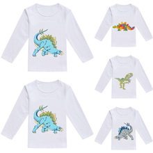 MUQGEW Girls Tops Toddler Baby Kids Boys Girls Spring Dinosaur Print Tops T-shirt Casual Clothes birthday tshirt cotton shirt(China)