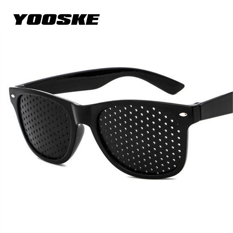 YOOSKE Anti-myopia Pinhole Glasses Pin Hole Sunglasses Eye Exercise Eyesight Improve Natural Healing Vision Care Eyeglasses