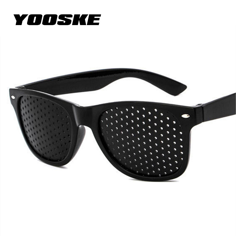 YOOSKE Anti-myopia Pinhole Glasses Pin hole Sunglasses Eye Exercise Eyesight Improve Natural Healing vision Care Eyeglasses