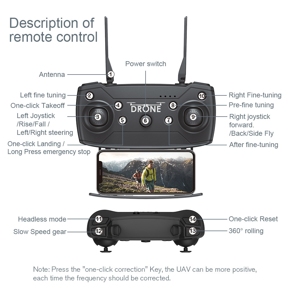 Image 4 - F69Pro 2.4G 5MP 1080P Wide Angle WIFI FPV HD Camera Foldable RC Drone Quadrocopt Toys 5.27-in RC Airplanes from Toys & Hobbies