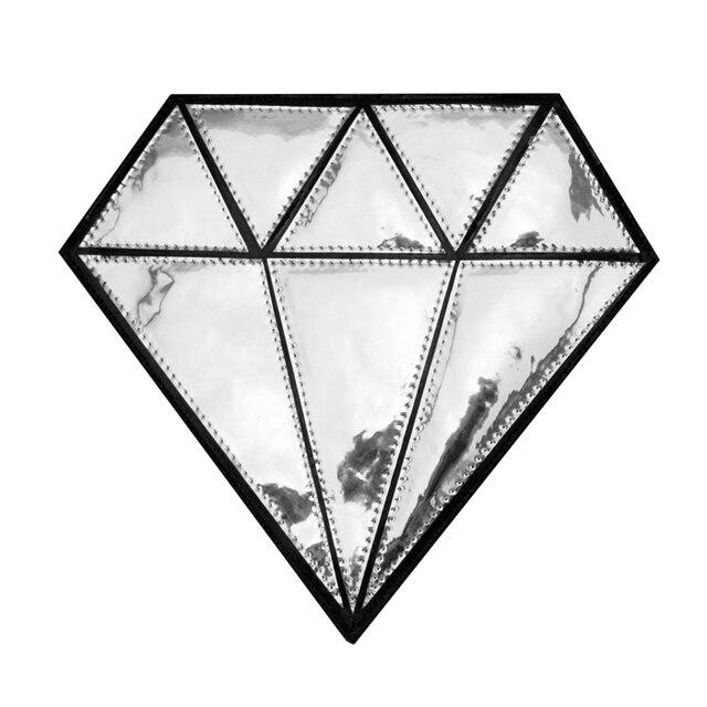 free shipping original design diamond oversize silver clutch with chain glossy mirror PU bag