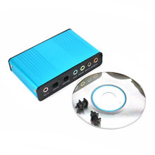 Tarjeta de sonido envolvente externa USB, 6 CANALES, 5,1/7,1, PC, portátil, tableta, adaptador óptico de Audio