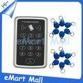 Envío libre + 10 rfid tag + de Proximidad RFID Sistema de Control de Acceso de la Tarjeta RFID/EM Teclado de Control de Acceso de Tarjetas Apertura de la puerta