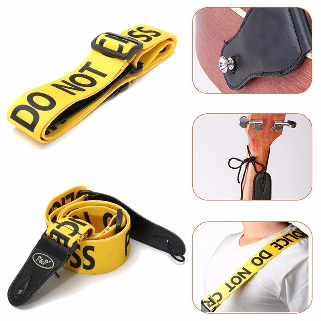 Zebra Fully Adjustable Polyester Guitar Belt Guitar Strap with PU Leather Ends for Electric Bass Guitar Parts Accessories