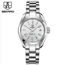 Relojes mujer sekaro 2017 women's luxury brand athens automatic mechanical watch women thin waterproof ladies fashion