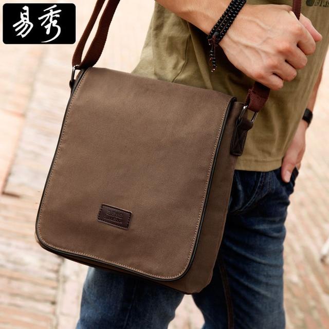 Aliexpress.com : Buy Eshow brown black khaki canvas vintage men ...