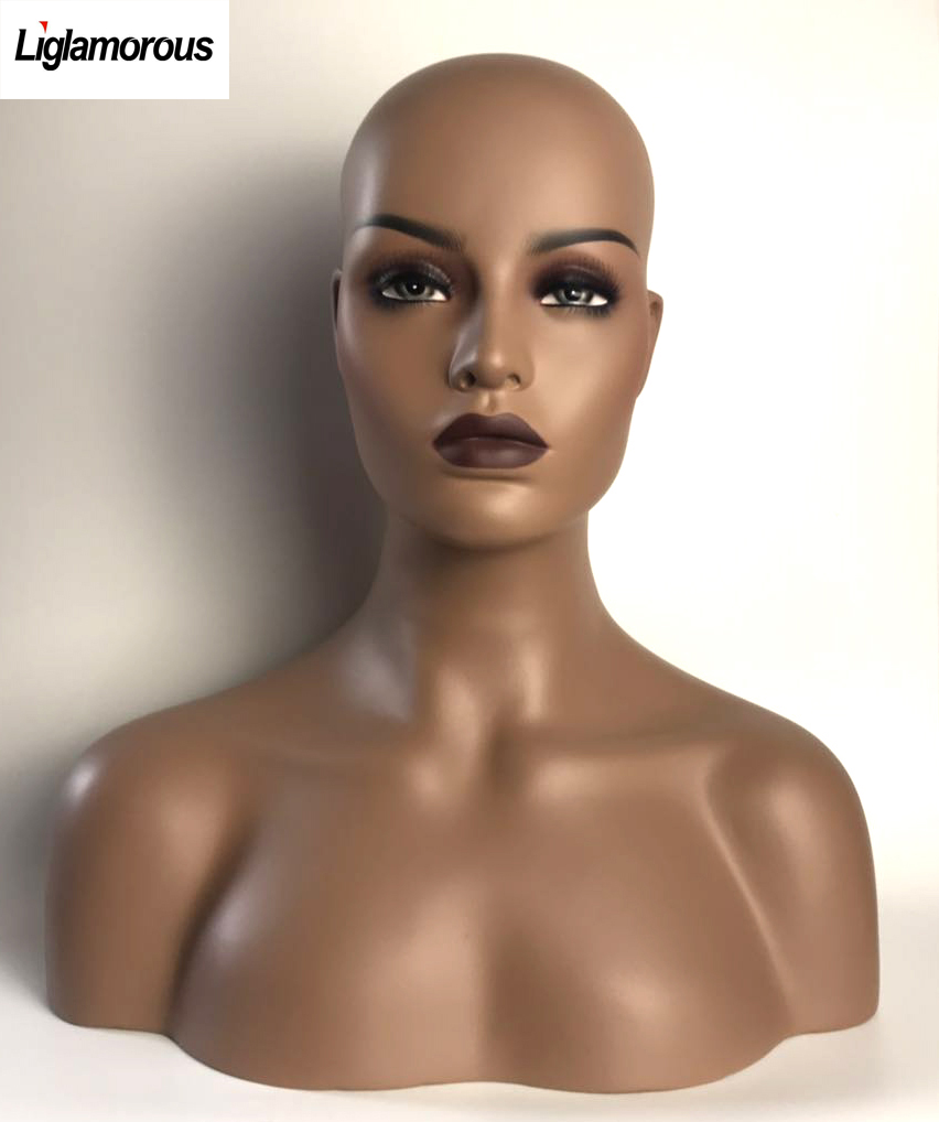 Beautiful Makeup Realistic Female Fiberglass Mannequin MD-FR10+ One free Wig We will randomly choose an in stock wig for you.