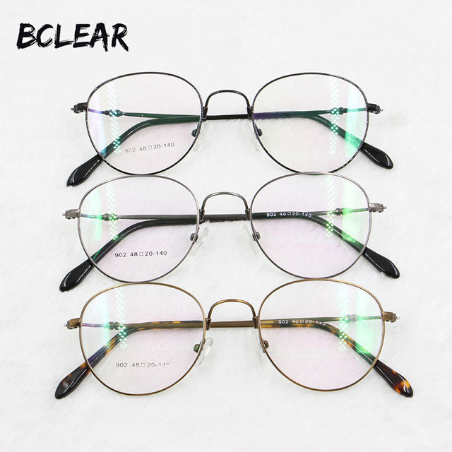 BCLEAR Retro round optical frame high quality memory alloy metal ...