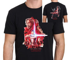 Star Wars Episode VIII The Last Jedi Front and Back T-Shirt Mens Black:S-XXL Free shipping Harajuku Tops Fashion Classic Unique