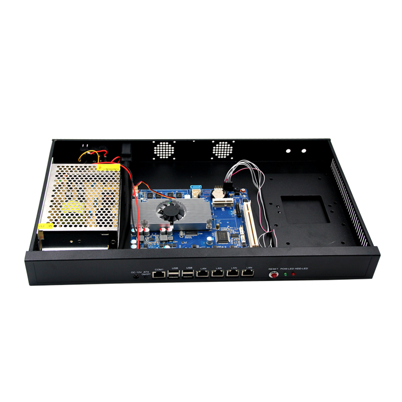 Firewall network Server Chassis+Atom D2550 4*LAN Ports Motherboard With PCI, 2 SATA,Fan/Fanless Industrial PC