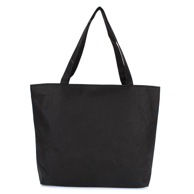 Fashion Blank Women's Casual Tote High Quality Canvas Shoulder Bag Plain White Black Handbag Shopping Bag Can Be Customized