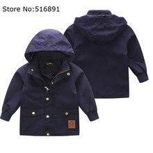 Весна осень девушки мини мода пальто детей водонепроницаемый куртка с капюшоном дети куртка бомбардировщика пальто ветер дождь малышей мальчики пико-куртка
