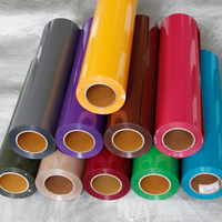 0.3x30m Heat Transfer Vinyl Roll 12 x 100ft Iron on HTV PU Roll 9 Colors Choosen