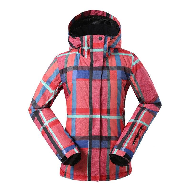GSOU SNOW veste de Ski extérieure chaude pour femmes coupe-vent imperméable respirant simple Double planche veste de Ski pour femmes taille XS-L