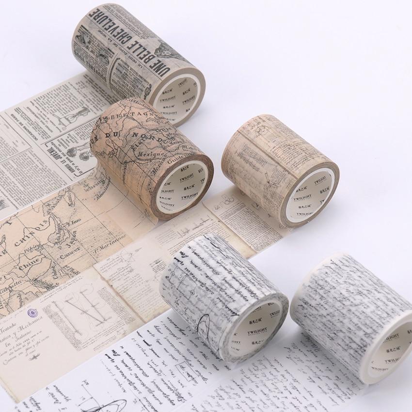 Washi Tape Vintage Da Vinci Manuscript Masking Tapes World Map Washi Tape Diy Scrapbooking Sticker Stationery
