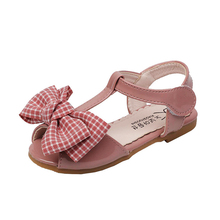 Childrens Shoes 2019 Summer New Kids Lovely Lattice Bowknot Fashion Girl Sandals Magic Princess Beach