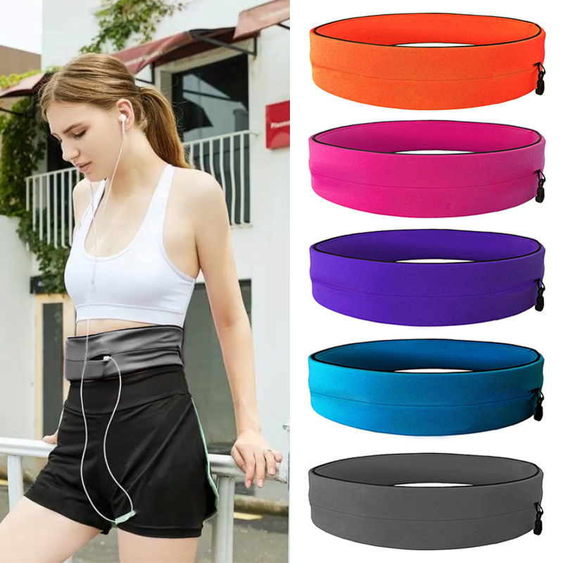 Phone-Pouch Belt-Bag Fitness-Belt Running Fashion Soft for Jogging Solid-Color Invisible