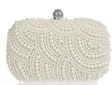 2016 kristall Perle Abendtasche Mode Frauen Kupplung Geldbörse Damen Kette H Tasche Braut Hochzeit Tasche SMYCYX-E0037