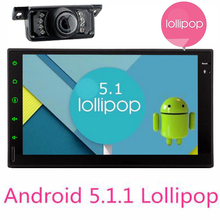 Android5.1 Double 2 din car autoradio GPS navigator video player Android 2din car audio stereo touch screen bluetooth+camera wif