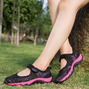 Image 5 - Женские кроссовки; Летняя повседневная обувь из сетчатого материала; Дышащие женские лоферы на плоской подошве; Удобная прогулочная обувь; Высокое качество; Zapatos